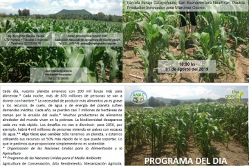 Evento ANAC AC Syngenta Maíz Agricultura de Conservación Nealtican, Puebla.