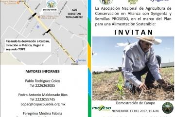 ANAC y Syngenta en Alianza por el Plan para una Alimentación Sostenible en el Valle de Puebla