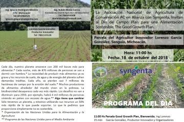 Evento Agricultura de Conservación Senguio, MIchoacán.