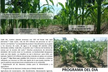 Evento ANAC AC Syngenta Maíz Agricultura de Conservación San Pedro Cholula, Puebla.